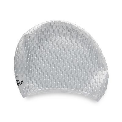 Women's long hair bubble silicone swimming cap