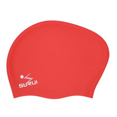 Ladies Long hair silicone swimming cap