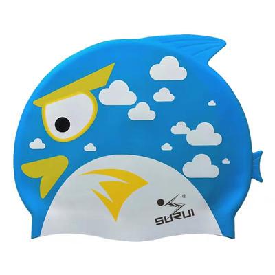 Child cartoon fish silicone swim cap