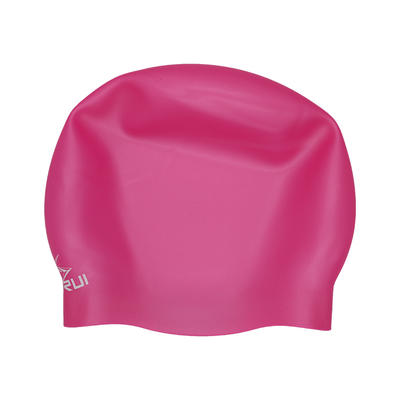 Training competition thicker seamless silicone swim cap